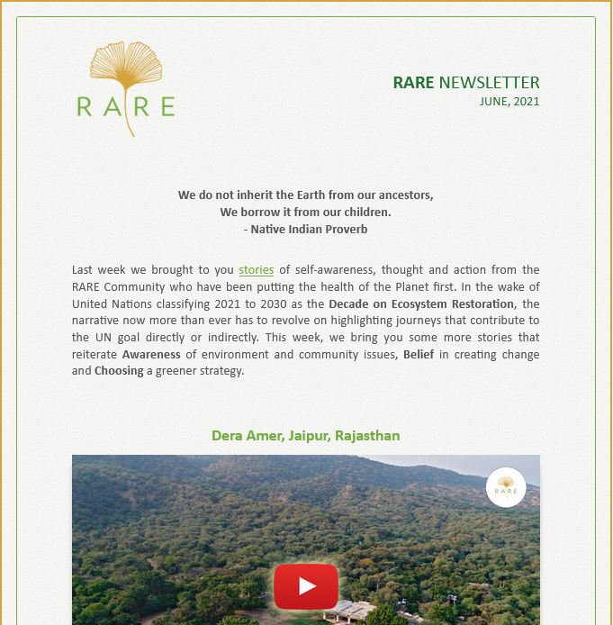RARE Newsletter | Vol 37 | Treading Softly is a Long Journey - Part 2